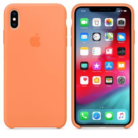 Силиконовый чехол для iPhone XS Max Apple Silicone Case-Papaya