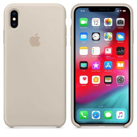 Силиконовый чехол для iPhone XS Max Apple Silicone Case-Stone