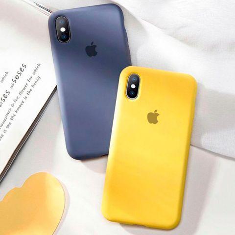 Силиконовый чехол для iPhone XS Max Silicone Case Full (с закрытой нижней частью)