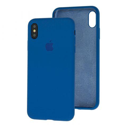 Силиконовый чехол для iPhone XS Max Silicone Case Full (с закрытой нижней частью)-Alaskan Blue