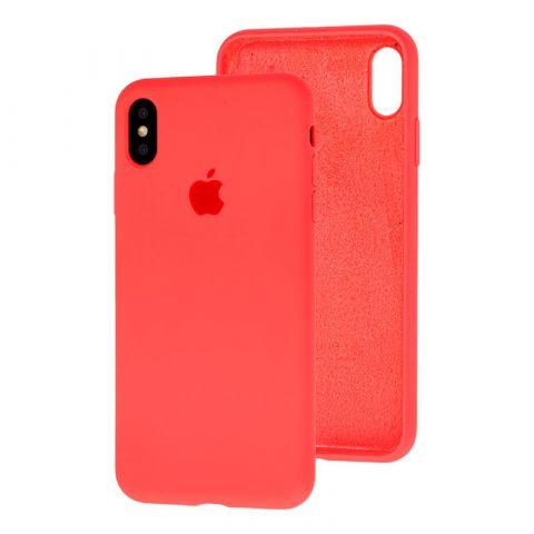 Силиконовый чехол для iPhone XS Max Silicone Case Full (с закрытой нижней частью)-Coral