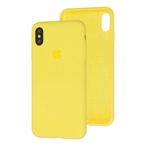Силиконовый чехол для iPhone XS Max Silicone Case Full (с закрытой нижней частью)-Flash