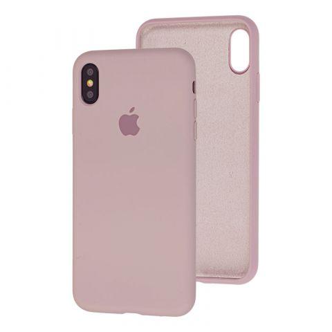 Силиконовый чехол для iPhone XS Max Silicone Case Full (с закрытой нижней частью)-Lavender