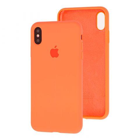 Силиконовый чехол для iPhone XS Max Silicone Case Full (с закрытой нижней частью)-Papaya