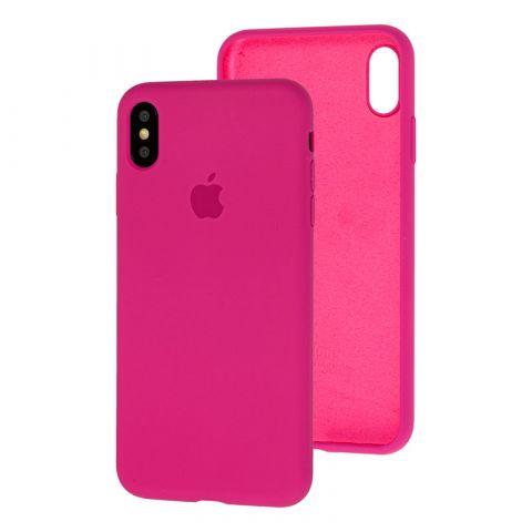 Силиконовый чехол для iPhone X/XS Silicone Case Full (с закрытой нижней частью)-Dragon Fruit