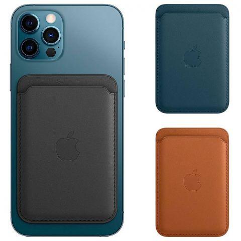 Кожаный чехол-бумажник Leather Wallet MagSafe для iPhone 12 | 12 mini | 12 Pro | 12 Pro Max