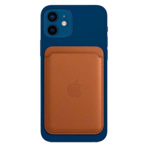 Кожаный чехол-бумажник Leather Wallet MagSafe для iPhone 12 | 12 mini | 12 Pro | 12 Pro Max-Saddle Brown