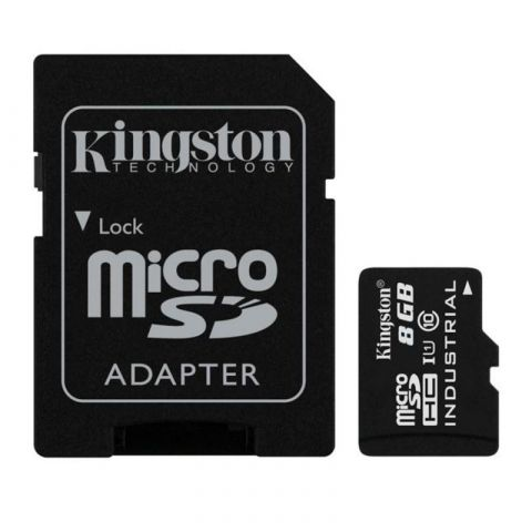 Карта памяти Kingston microSDHC 8Gb (Class 10) + Adapter SD