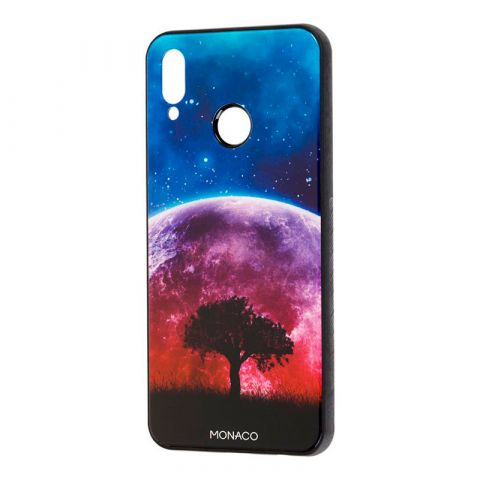 Чехол на Huawei P Smart Plus Monaco (красная луна)