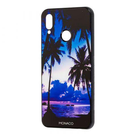 Чехол на Huawei P Smart Plus Monaco (закат на берегу)