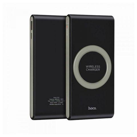 Внешний аккумулятор Power Bank Hoco B32 8000mAh с беспроводной зарядкой