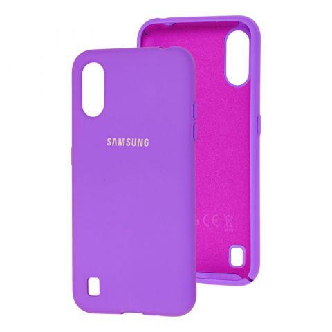 Чехол для Samsung Galaxy A01 (A015) Silicone Full-Lavender