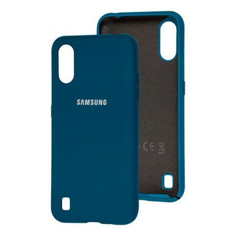 Чехол для Samsung Galaxy A01 (A015) Silicone Full-Ocean Blue