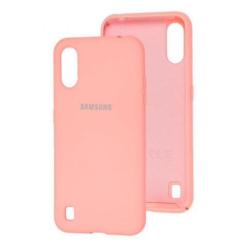 Чехол для Samsung Galaxy A01 (A015) Silicone Full-Peach
