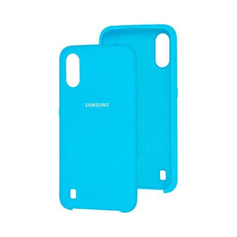 Чехол для Samsung Galaxy A01 (A015) Soft Touch Silicone Cover-Light Blue