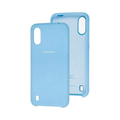 Чехол для Samsung Galaxy A01 (A015) Soft Touch Silicone Cover-Lilac