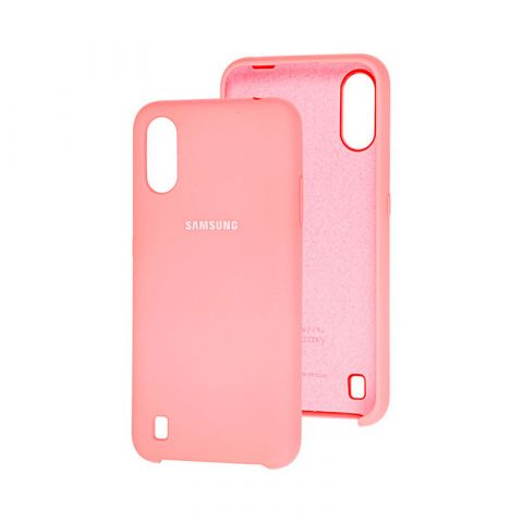 Чехол для Samsung Galaxy A01 (A015) Soft Touch Silicone Cover-Peach