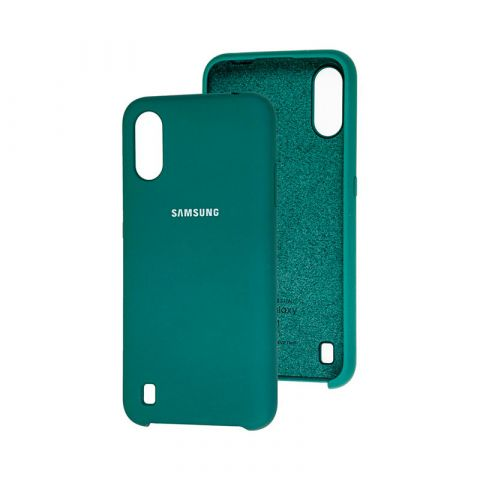 Чехол для Samsung Galaxy A01 (A015) Soft Touch Silicone Cover-Pine Green
