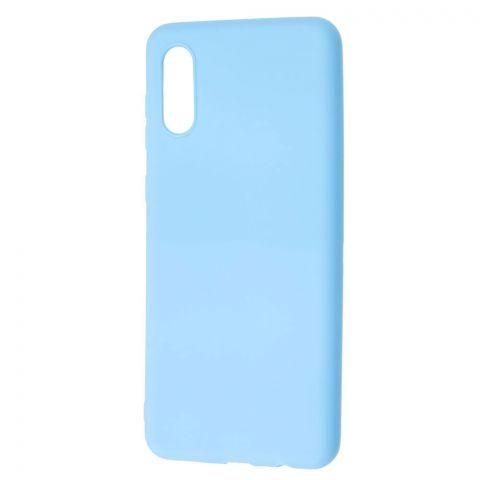 Силиконовый чехол для Samsung Galaxy A02 (A022) Candy-Light Blue