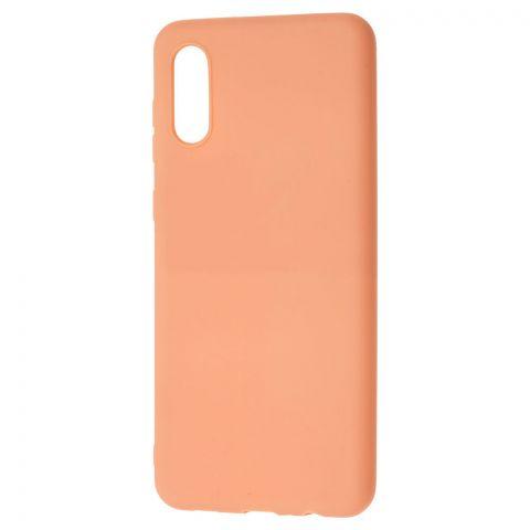 Силиконовый чехол для Samsung Galaxy A02 (A022) Candy-Rose Gold