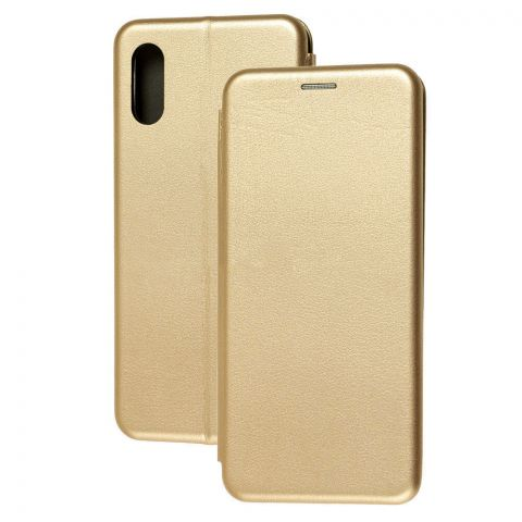 Чехол-книжка для Samsung Galaxy A02 (A022) Premium-Gold