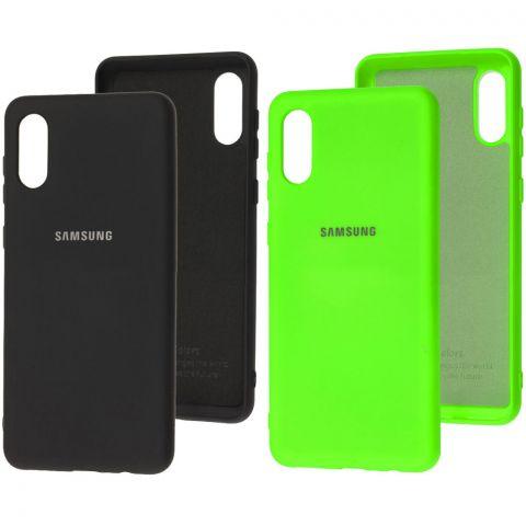 Силиконовый чехол для Samsung Galaxy A02 (A022) Silicone Full