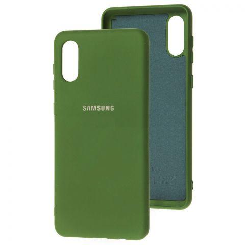 Силиконовый чехол для Samsung Galaxy A02 (A022) Silicone Full-Dark Green
