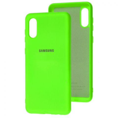 Силиконовый чехол для Samsung Galaxy A02 (A022) Silicone Full-Lime