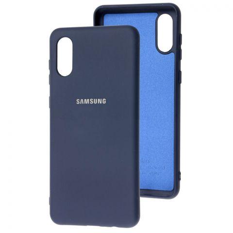 Силиконовый чехол для Samsung Galaxy A02 (A022) Silicone Full-Midnight Blue