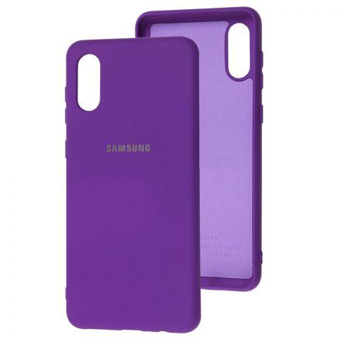 Силиконовый чехол для Samsung Galaxy A02 (A022) Silicone Full-Ultra Violet