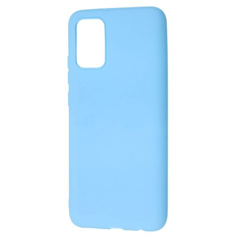 Силиконовый чехол для Samsung Galaxy A02s (A025) Candy-Light Blue