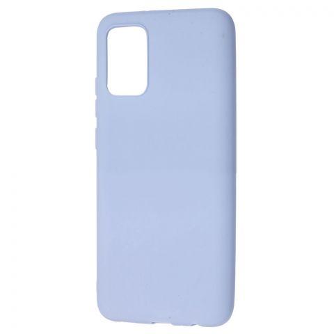 Силиконовый чехол для Samsung Galaxy A02s (A025) Candy-Lilac Blue