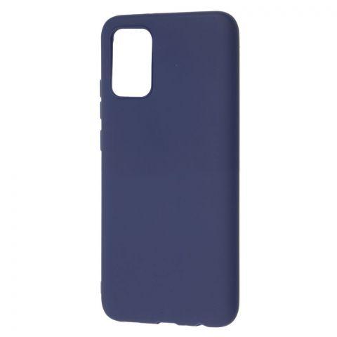 Силиконовый чехол для Samsung Galaxy A02s (A025) Candy-Midnight Blue