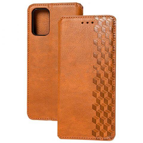 Чехол-книжка для Samsung Galaxy A02s (A025) Getman Cubic-Brown