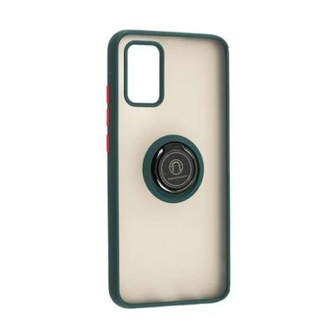 Чехол для Samsung Galaxy A02s (A025) LikGus Edging Ring-Dark Olive