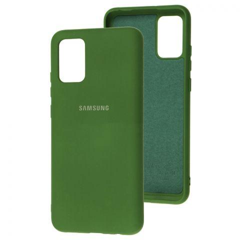 Силиконовый чехол для Samsung Galaxy A02s (A025) Silicone Full-Dark Green