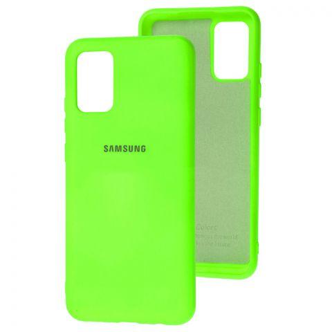Силиконовый чехол для Samsung Galaxy A02s (A025) Silicone Full-Lime