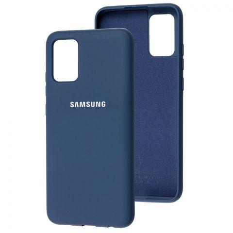 Силиконовый чехол для Samsung Galaxy A02s (A025) Silicone Full-Midnight Blue