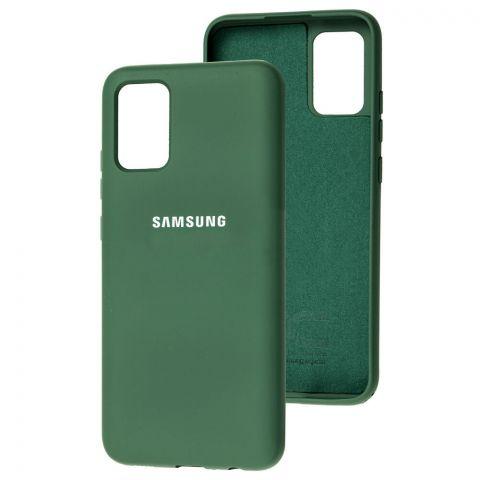 Силиконовый чехол для Samsung Galaxy A02s (A025) Silicone Full-Pine Green
