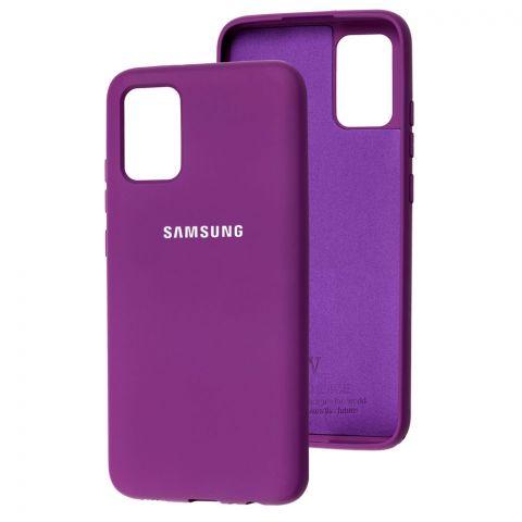 Силиконовый чехол для Samsung Galaxy A02s (A025) Silicone Full-Purple