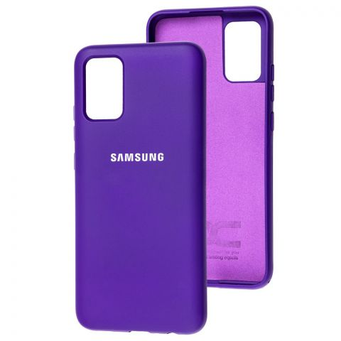 Силиконовый чехол для Samsung Galaxy A02s (A025) Silicone Full-Ultra Violet