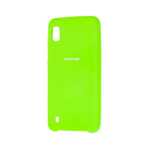 Чехол для Samsung Galaxy A10 (A105) Soft Touch Silicone Cover-Lime