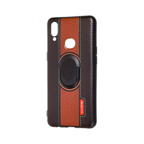 Чехол для Samsung Galaxy A10s (A107) Dlons с кольцом-Black/Brown