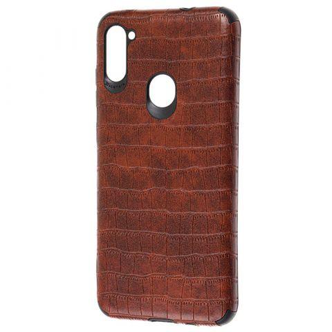 Чехол для Samsung Galaxy A11 (A115) / Galaxy M11 (M115) Epic Vivi Crocodile-Dark Brown