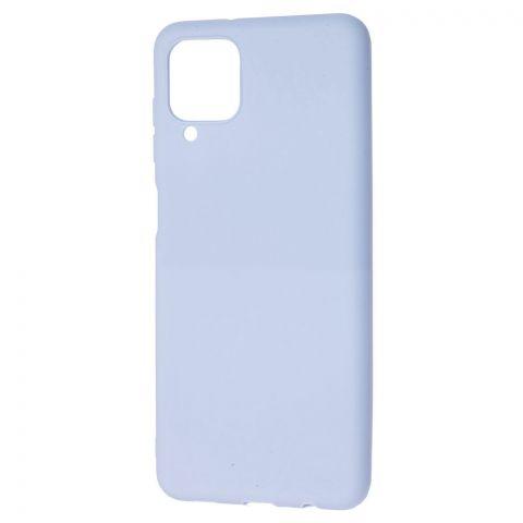 Силиконовый чехол для Samsung Galaxy A12 (A125) Candy-Lilac Blue