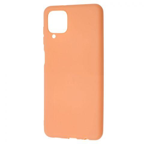 Силиконовый чехол для Samsung Galaxy A12 (A125) Candy-Rose Gold