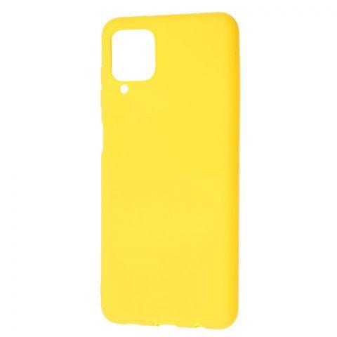 Силиконовый чехол для Samsung Galaxy A12 (A125) Candy-Yellow