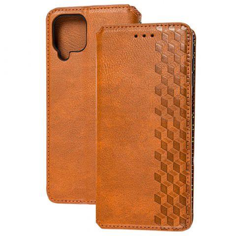 Чехол-книжка для Samsung Galaxy A12 (A125) Getman Cubic-Brown