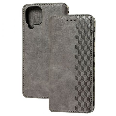 Чехол-книжка для Samsung Galaxy A12 (A125) Getman Cubic-Gray