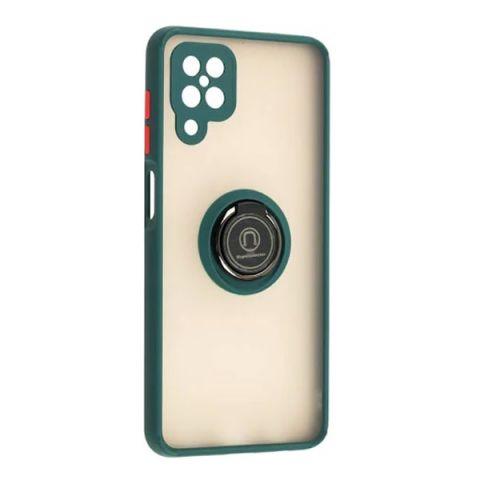 Чехол для Samsung Galaxy A12 (A125) LikGus Edging Ring-Dark Olive